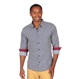 Something Strong Men's Long Sleeve Button Down Shirt