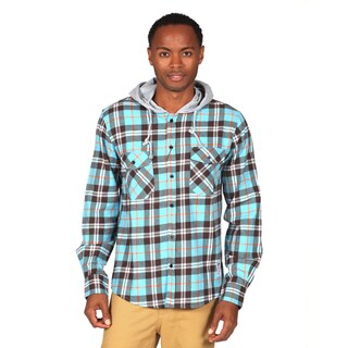 Something Strong Men's Hooded Flannel Shirt
