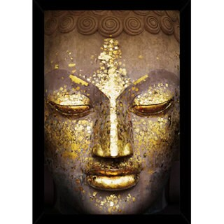 Buddha Print (24-inch x 36-inch) with Contemporary Poster Frame