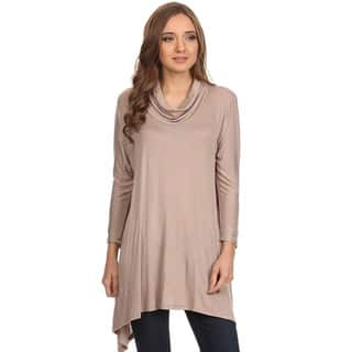 MOA Collection Women's Cowl Neck Tunic|https://ak1.ostkcdn.com/images/products/11105315/P18109210.jpg?impolicy=medium