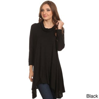 MOA Collection Women's Cowl Neck Tunic