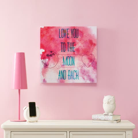 Intelligent Design To The Moon And Back Gel Coat Canvas - Pink