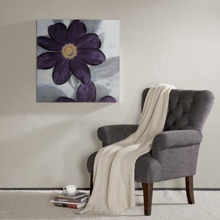 Madison Park Midnight Bloom Hand Embellished Canvas - Purple