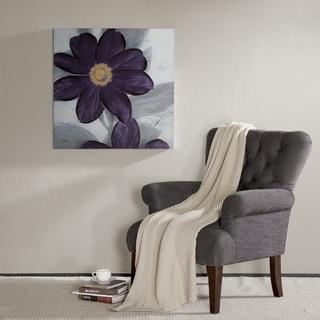Madison Park Midnight Bloom Hand Embellished Canvas