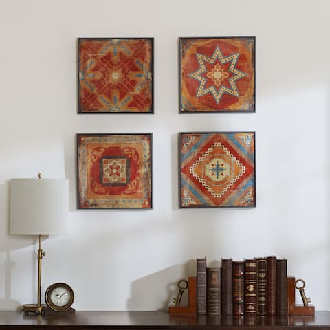 Madison Park Moroccan Tile Gel Coat Deco Box 4-piece Set