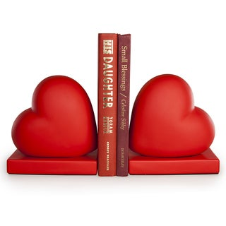 Danya B Red Hearts Bookend Set