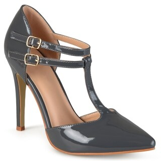 Journee Collection Women's 'Tru' Classic T-strap Pumps