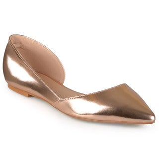 Link to Journee Collection Women's 'Cortni' Pointed Toe Cut-out Flats Similar Items in Women's Shoes