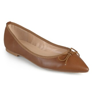 Journee Collection Women's 'Lena' Pointed Toe Bow Ballet Flats