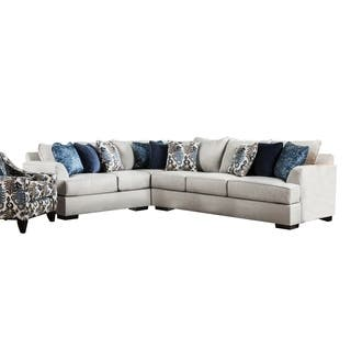 Furniture Of America Rosille Contemporary Beige Fabric L Shaped Sectional