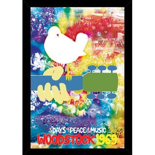 Woodstock Print (24-inch x 36-inch) with Traditional Black Wood Frame