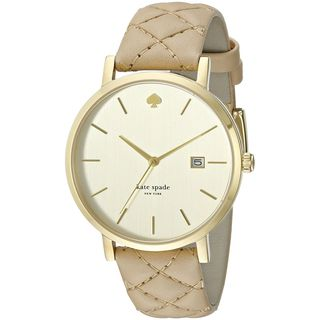 Kate Spade Women's 1YRU0844 'Grand Metro' Tan Leather Watch
