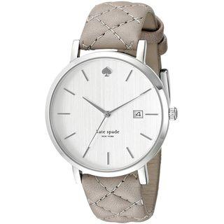 Kate Spade Women's 1YRU0846 'Grand Metro' Grey Leather Watch