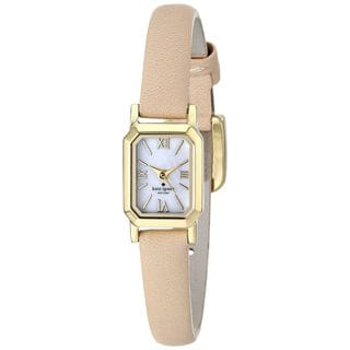 Kate Spade Women's 1YRU0637 'Tiny Hudson' Beige Leather Watch
