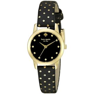 Kate Spade Women's 1YRU0890 'Mini Metro' Black Leather Watch