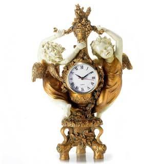"""16.125"""" Dancing Cherubs Mantle Clock"""