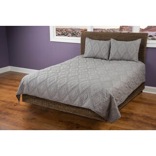 Rizzy Home Tapper Grey Quilt (Option: Twin)