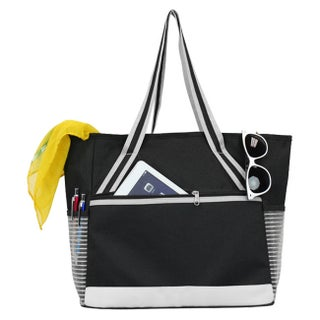 Goodhope Mesh Tablet Beach Tote (Option: Silver)