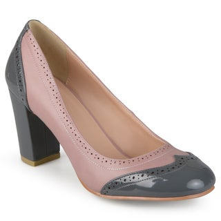 Journee Collection Women's 'Sami' Two-tone Round Toe Pumps