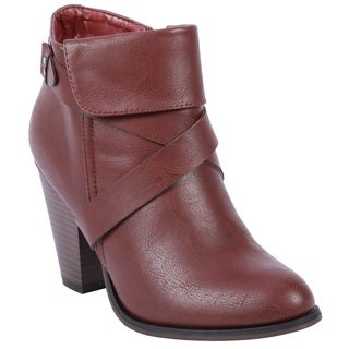 Coshare Women's Fashion Camila-52 Chunky Heel Booties