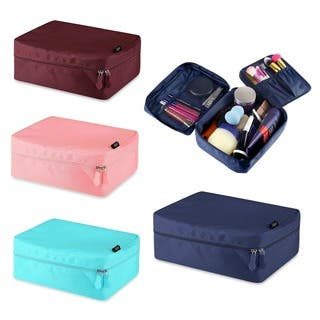 Zodaca Women Travel Cosmetic Bag Makeup Case Toiletry Organizer Pouch|https://ak1.ostkcdn.com/images/products/11110143/P18113570.jpg?impolicy=medium