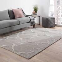 Bronx Handmade Trellis Gray/ Silver Area Rug (5' X 8')