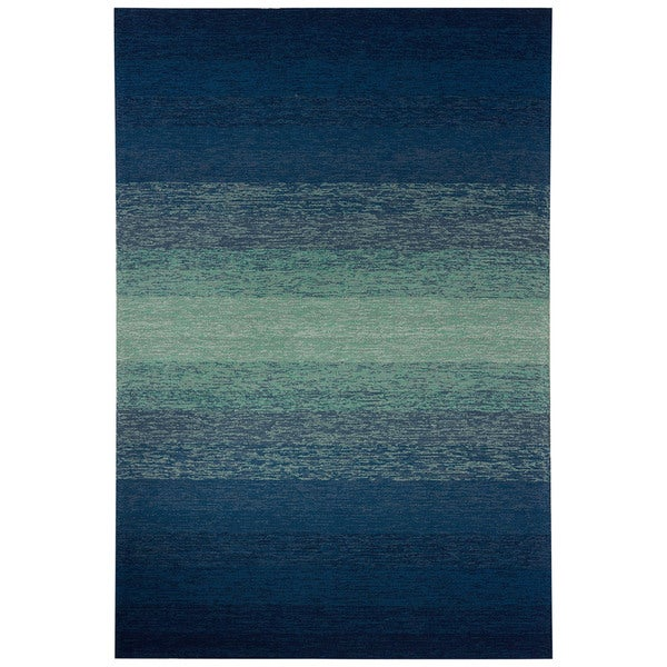 "Channel Indoor/ Outdoor Ombre Blue/ Green Area Rug (5' X 7'6"")"