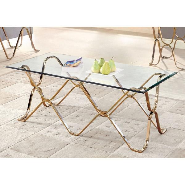 Shop Furniture Of America Tellarie Contemporary Champagne