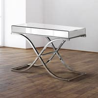 Furniture of America Orelia Luxury Chrome Metal Sofa Table