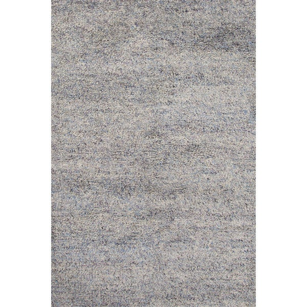 Shag Solid Blue Area Rug (5' X 8')