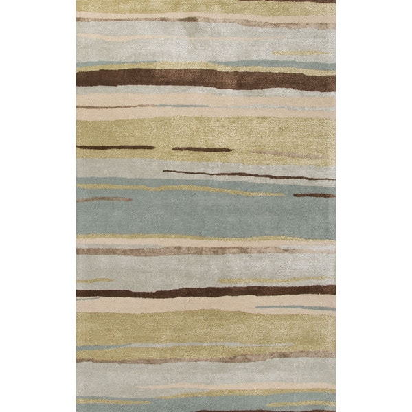 Shop Pinnacle Handmade Abstract Multicolor Area Rug
