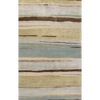 Pinnacle Handmade Abstract Multicolor Area Rug (5' X 8') - 5' x 8'