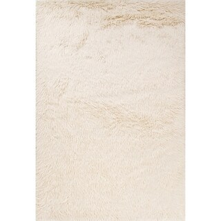 "Dresden Solid White Area Rug (5' X 7'6"")"