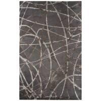 Jazz Handmade Abstract Gray/ Brown Area Rug - 5' X 8'