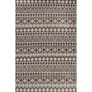 Handmade Tribal Black Area Rug (5' X 8')