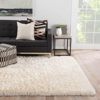 """Finlay Solid White Area Rug (5' X 7'6"""")"""