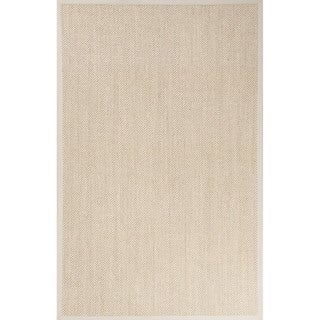 Naturals Solid Pattern Natural/Ivory Sisal Area Rug (5' x 8')