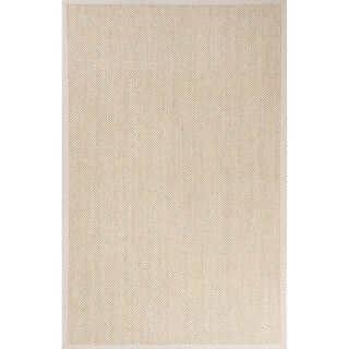 Nalani Natural Solid Beige/ Ivory Area Rug (5' X 8')