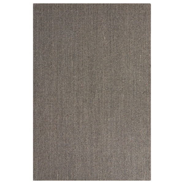 Naturals Geometric/Solid Pattern Gray Sisal Area Rug - 5' x 8'