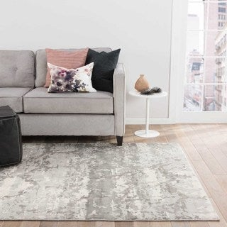 Oriel Abstract Gray/ Taupe Area Rug (10' X 13')