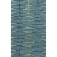 Loran Handmade Stripe Teal/ Green Area Rug (8' X 10')