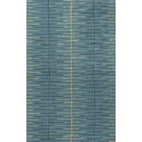 Loran Handmade Stripe Teal/ Green Area Rug (9' X 12')