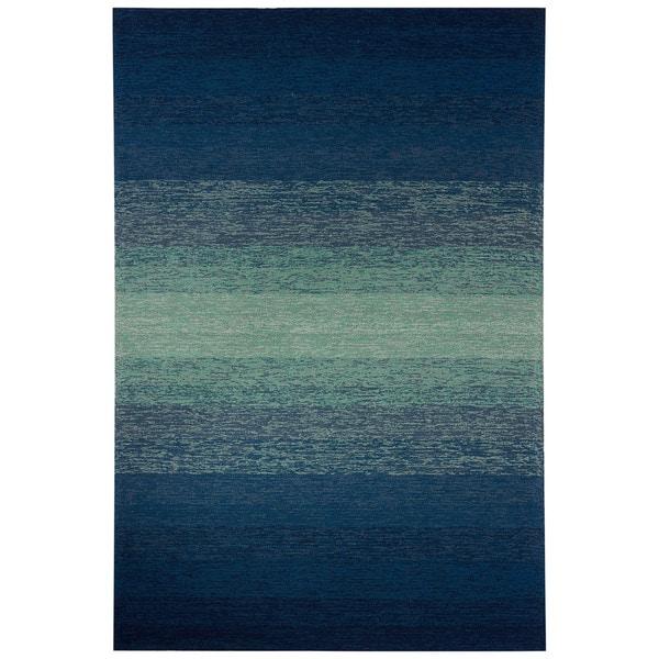 "Channel Indoor/ Outdoor Ombre Blue/ Green Area Rug (7'6"" X 9'6"")"