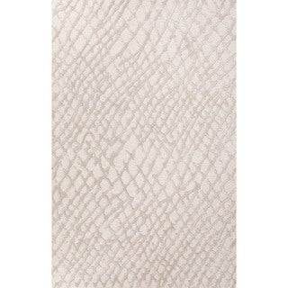 "Amalfi Handmade Abstract Cream/ Gray Area Rug (9'6"" X 13'6"")"