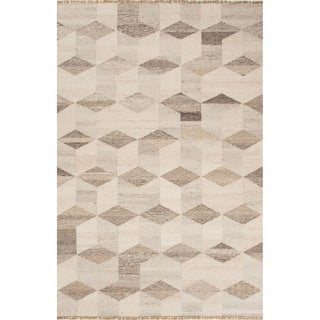 Pasargad S Santa Fe Collection Hand Woven Ivory Beige