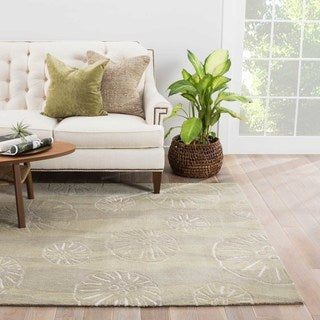 Contemporary Coastal Pattern Beige/Ivory Polyester Area Rug (7'6 x 9'6)