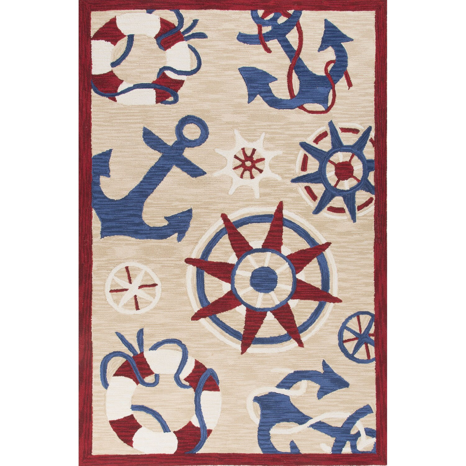 "Juniper Home Handmade Novelty Neutral Area Rug (7'6"" X 9'..."