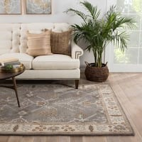 Maison Rouge Thomas Handmade Floral Grey/ Beige Area Rug (8' x 10')
