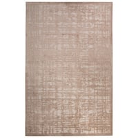 "Echo Abstract White/ Tan Area Rug (7'6"" X 9'6"") - 7'6 x 9'6"