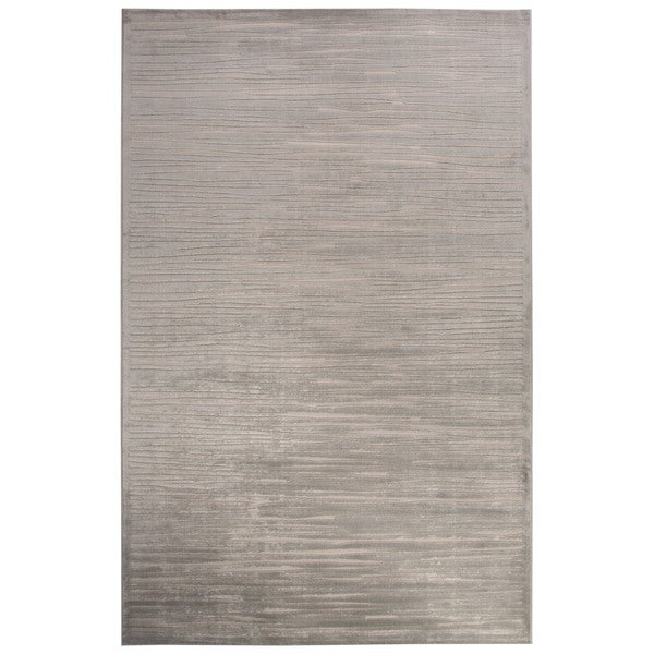 "Raya Abstract Silver/ White Area Rug (7'6"" X 9'6"") - 7'6""x9'6"""